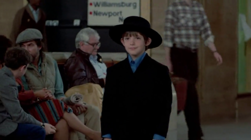 He's just like this adorable little mini person in his cute Amish suit!